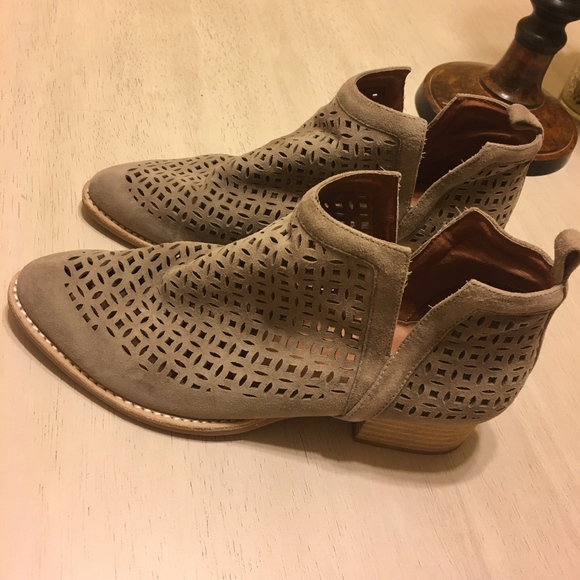 Jeffrey Campbell Shoes - Jeffrey Campbell Taupe Suede Booties